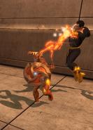 Black Adam fighting Qwardians (Metropolis Anti-Matter Invasion Zone)