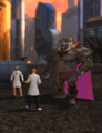 Gorilla Grodd with Scientists (Metropolis Anti-Matter Invasion Zone).png