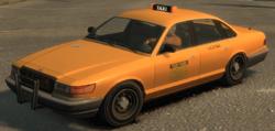 Das Taxi mit WTF-Werbung