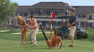 Prostituierte auf dem Golfplatz