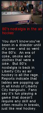 80er-Nostalgie beim Air Hockey