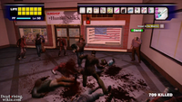 Dead rising huntin shack with toy laser sword