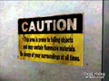 Dead rising caution sign next to elevator