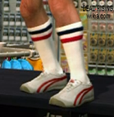 Dead rising clothing jasons red and white shoes long tube socks