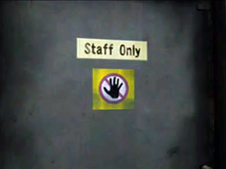 Dead rising secruity room warning on door to entrance plaza hallway