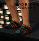Dead rising clothing black and red sneakers