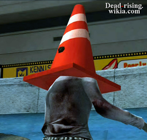 Dead rising pylon on zombies head