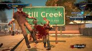 Dead rising 2 spiked bat in front of sign