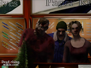 Dead rising rippers taking photos of zombies behind counter (2)