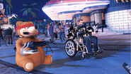 Dead rising 2 freedom bear wheel chair