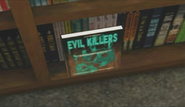 Dead rising horror evil killers on shelf