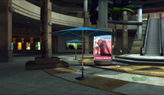 Dead rising entrance plaza umbrellas