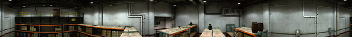 Dead rising Warehouse on shelves PANORAMA