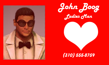 Dead rising 2 John Boog business card