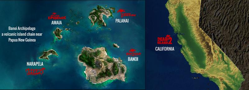 Dead Island Loacations