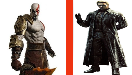 File:Kratos vs. Albert Wesker.png