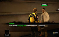 Dead rising Robert get me an Security AR or I don't stand a chance