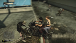 Alejandra and Nick on the motorcycle