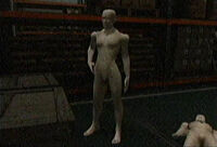 Dead Rising mannequin in warehouse