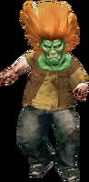 Dead rising goblin mask on zombie