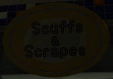 Scuffs & Scrapes Sign