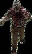 Dead rising zombie man fat plaid shirt