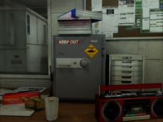Dead rising security room sticker on safe