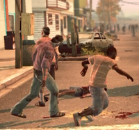 Dead rising case 0 vomit slipping on