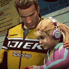 Чак с дочерью