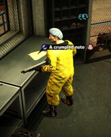 Dead rising The Search Continues a crumpled note