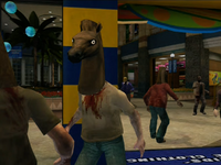 Dead rising horses head on zombie