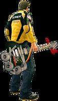 Dead rising power guitar holding