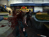 Dead rising zombie larva shooting out
