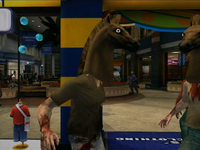 Dead rising horse head on zombie