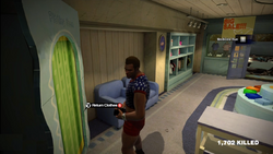 Dead rising clothing Blue T-shirt with White Stars and Red Shorts 2