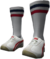 Dead rising White and Red Lowtops with Soccer Socks