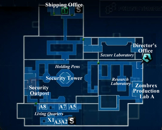 Dead rising 2 CASE WEST map second floor