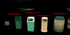 Dead rising garbage cans items txt names