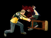 Dead rising bar chair hitting zombie (2)
