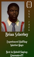 Brian Scherbey business card