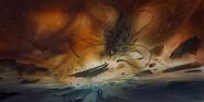 DS3 Brethren Moon battle Concept Art by Patrick O'Keefe