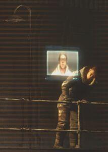 Robert Norton contacting Jacob Danik in the warehouse with the Nexus.
