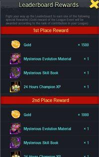 Leaderboard Rewards Example