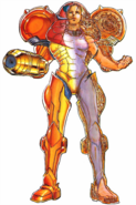 Metroid - Half X-Ray Vision of what Samus Aran's suit looks like