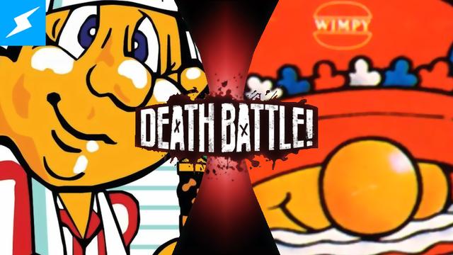 File:Death Battle Thumbnail Version 3.5 - Peter Pepper VS Mr Wimpy.png