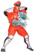 Street Fighter - M Bison using Psyco Power as seen in Street Fighter II