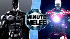 One Minute Melee Batman VS Iron Man