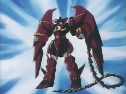 Moble Suit Gundam Wing - Gundam Epyon being activated as seen in the anime