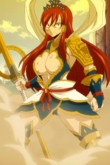 Fairy Tail - Erza Scarlet wearing Nakagami Armor