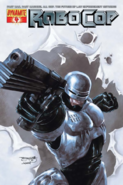 RoboCop- RoboCop as he appears on the front cover of Dynamite 4 Comics